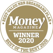 Belong Money Magazine Award 2020 - Best Value nbn Plan
