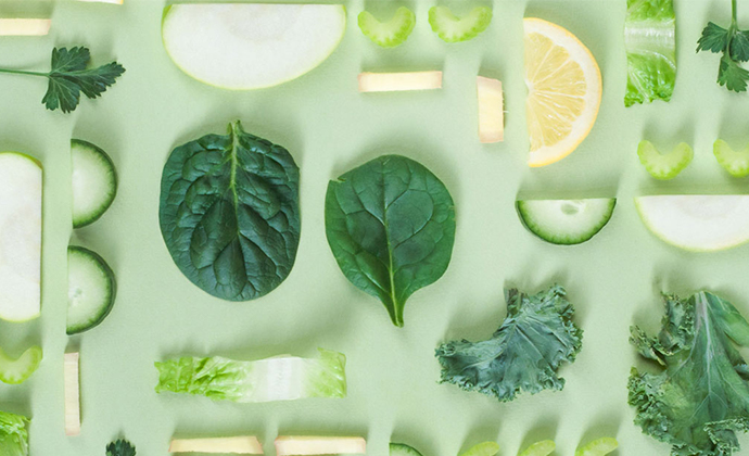 A spread of green vegetables.