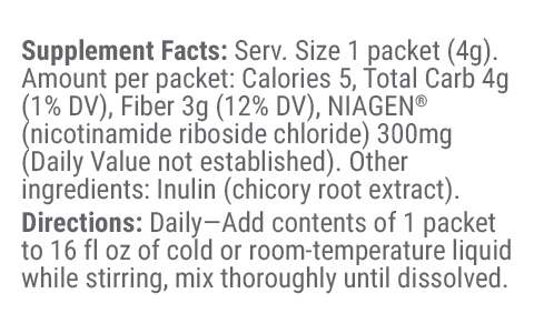 Stick Packs Supplement Facts