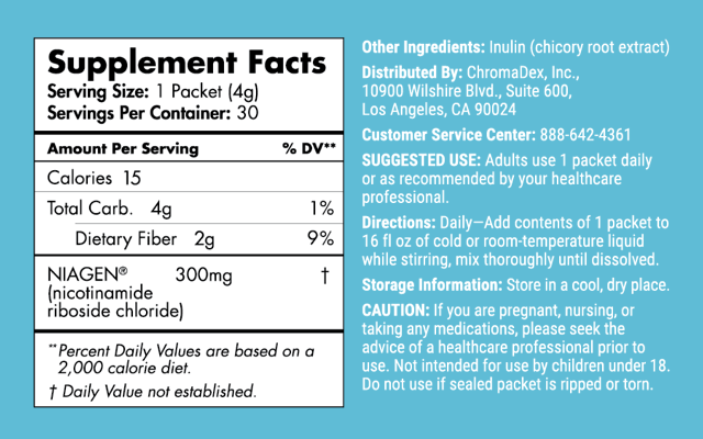 Stick Packs Supplement Facts