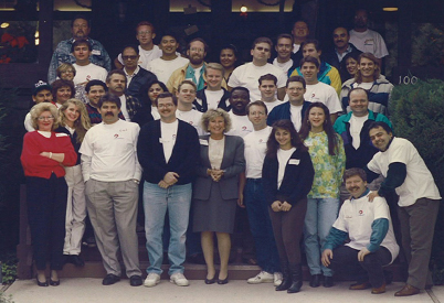 Group picture of the ChromaDex team in 1999