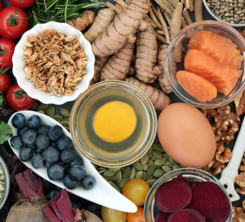 an assortment of healthy foods