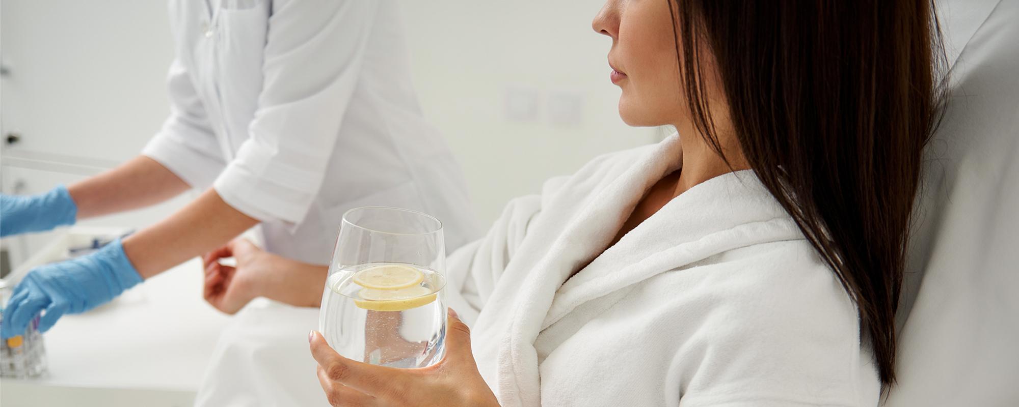 Woman at a wellness spa