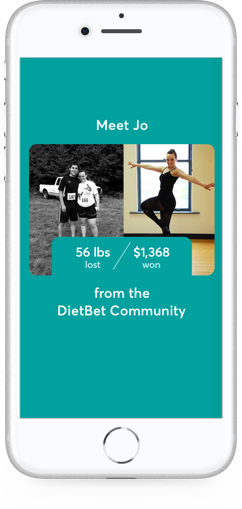 DietBet app on phone.
