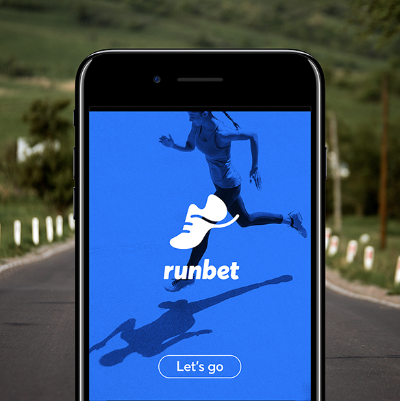 RunBet app on phone.