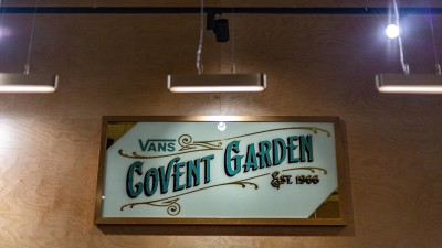 Vans Covent Garden upstairs Alex may Hughes sign
