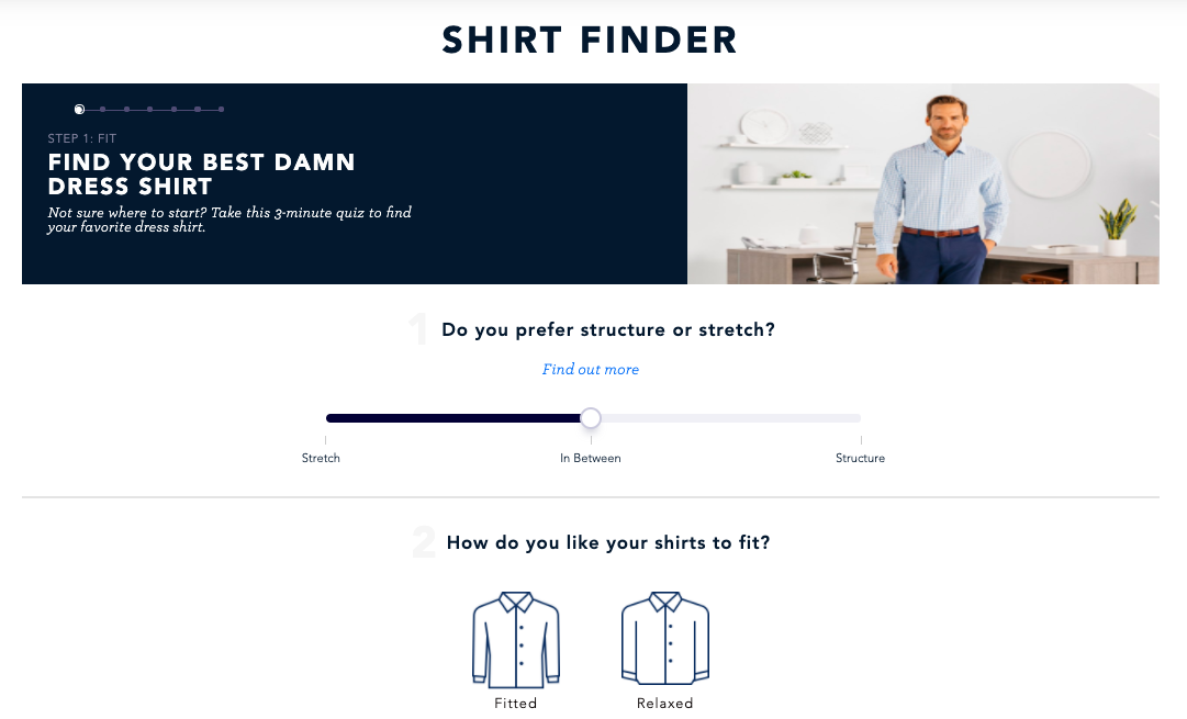 The shirt finder