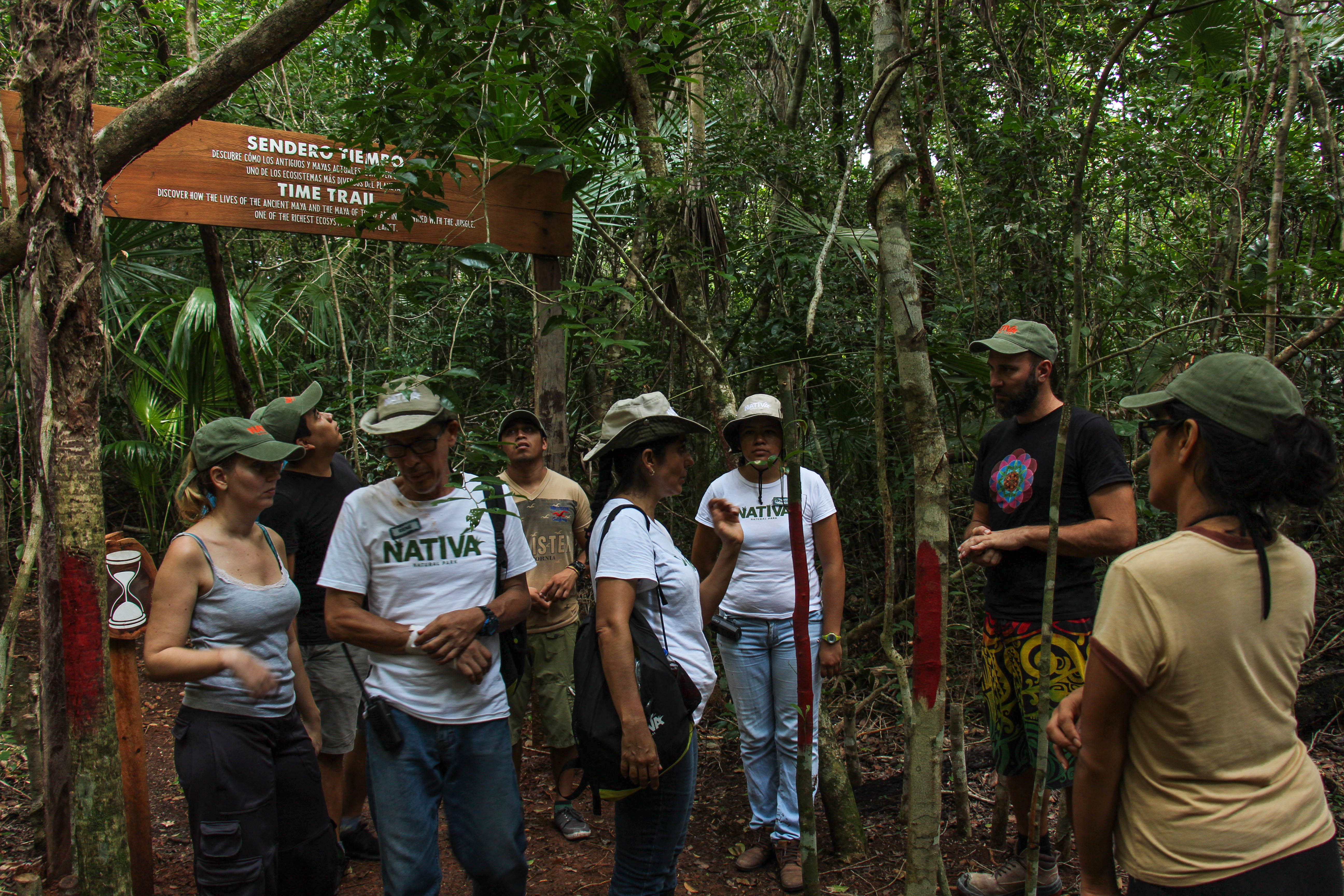 Nativa-Park-Holbox-Activities-tour-Hike-group