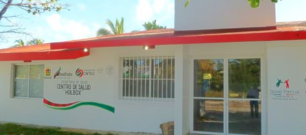 Holbox health center building