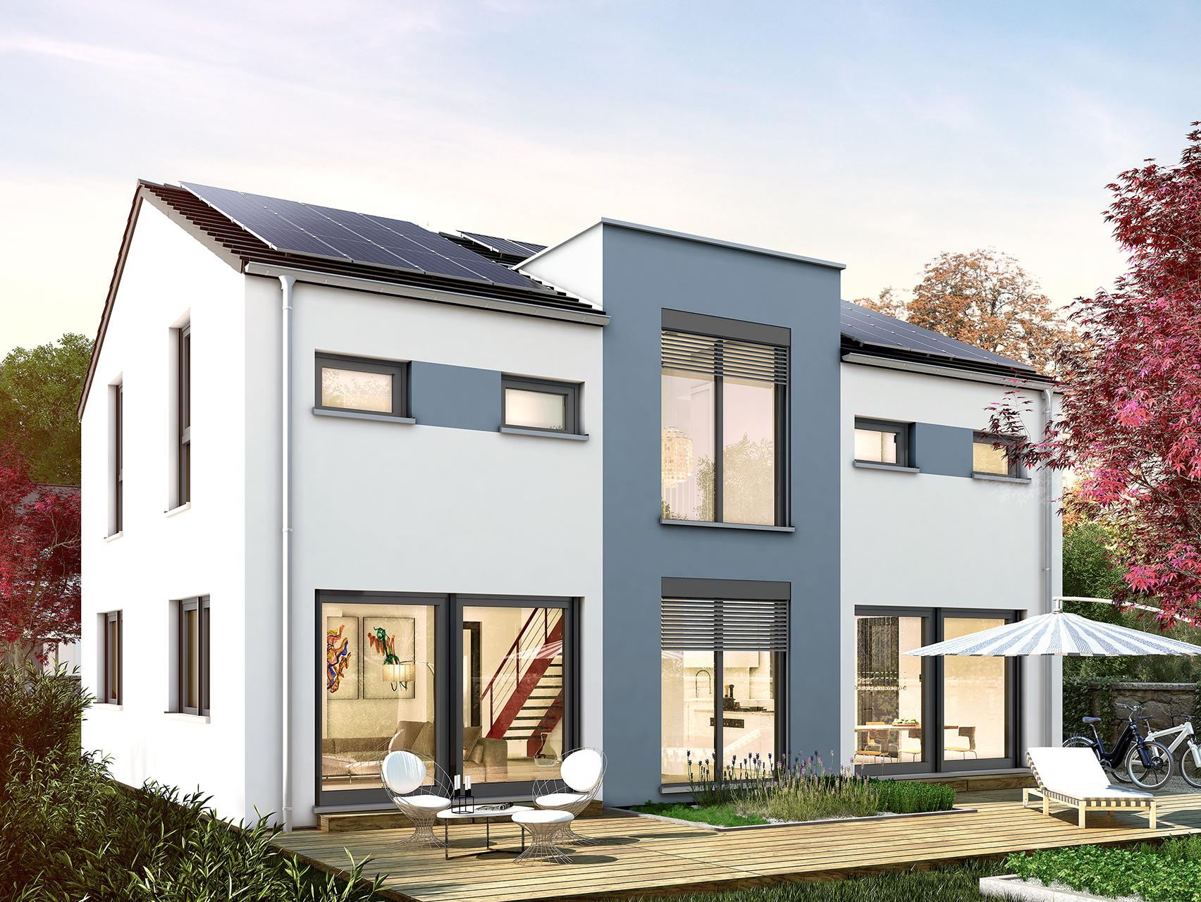 Ungewöhnlich Zweistöckige Häuser Planen, Mit Küche Im Obergeschoss ...