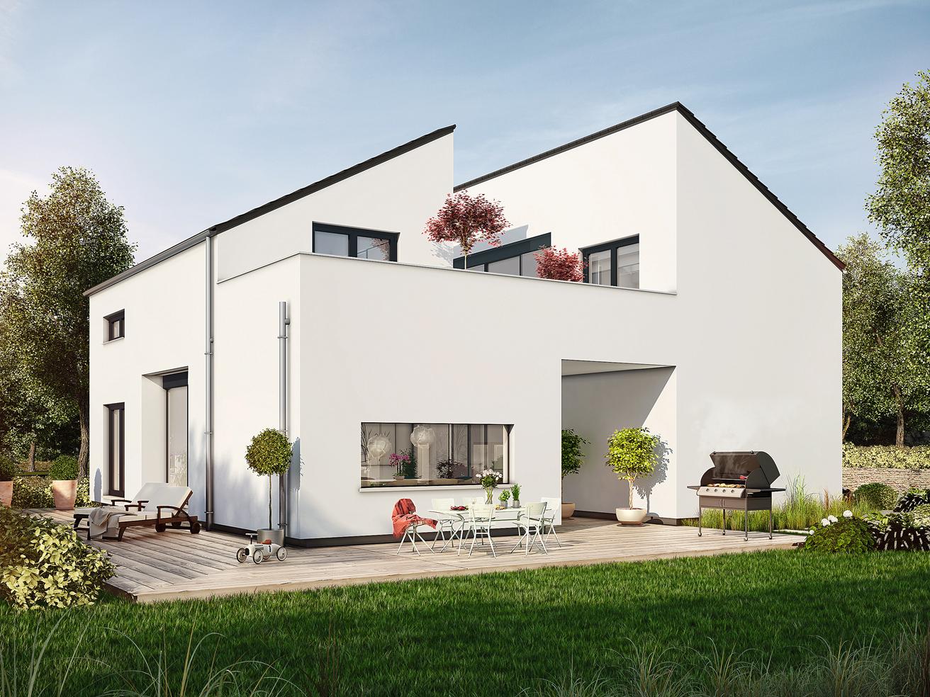 Bad Vilbel Musterhaus planungsvorschlag mit atrium