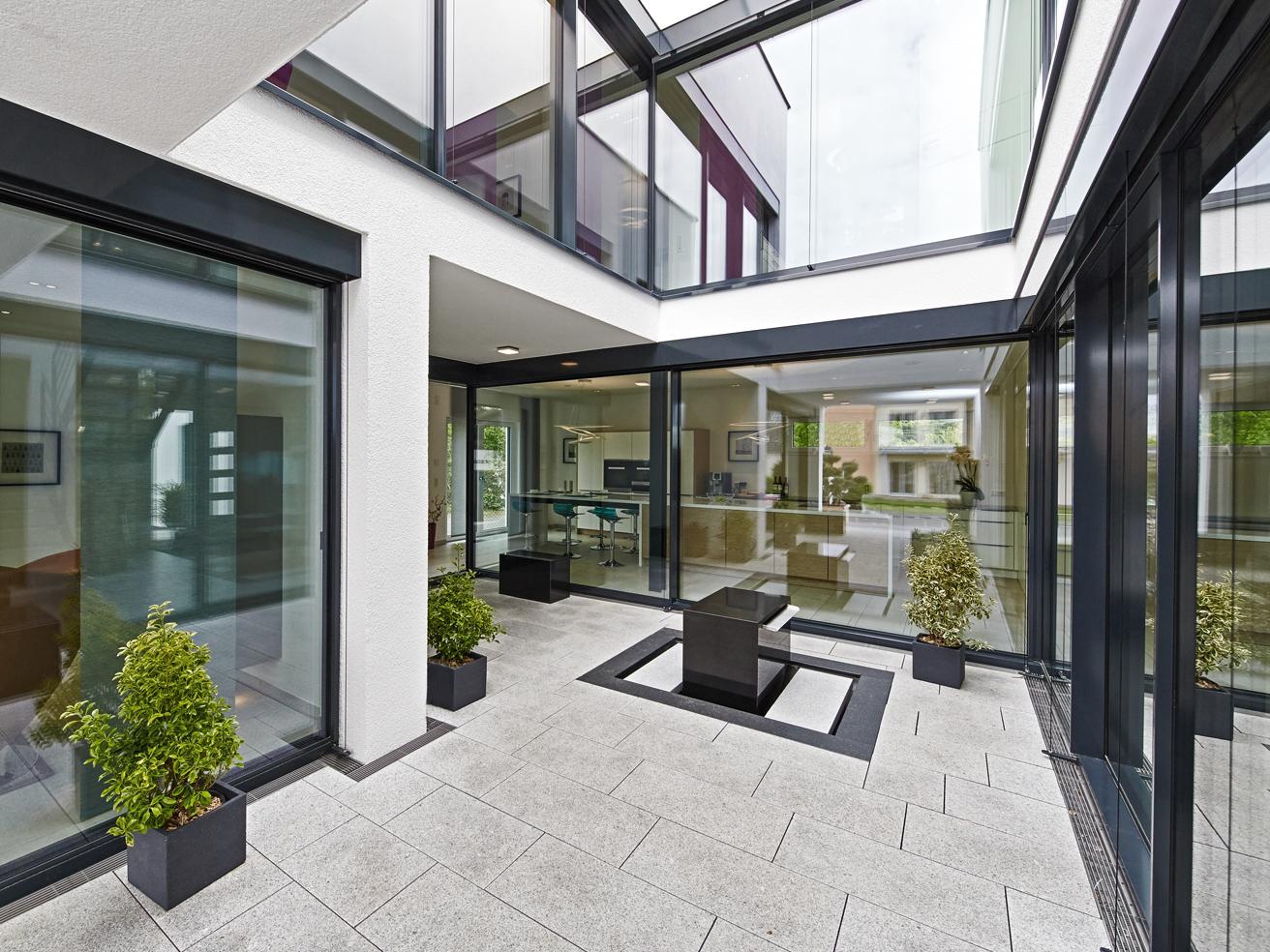 Planungsvorschlag mit atrium for Atriumhaus bauen