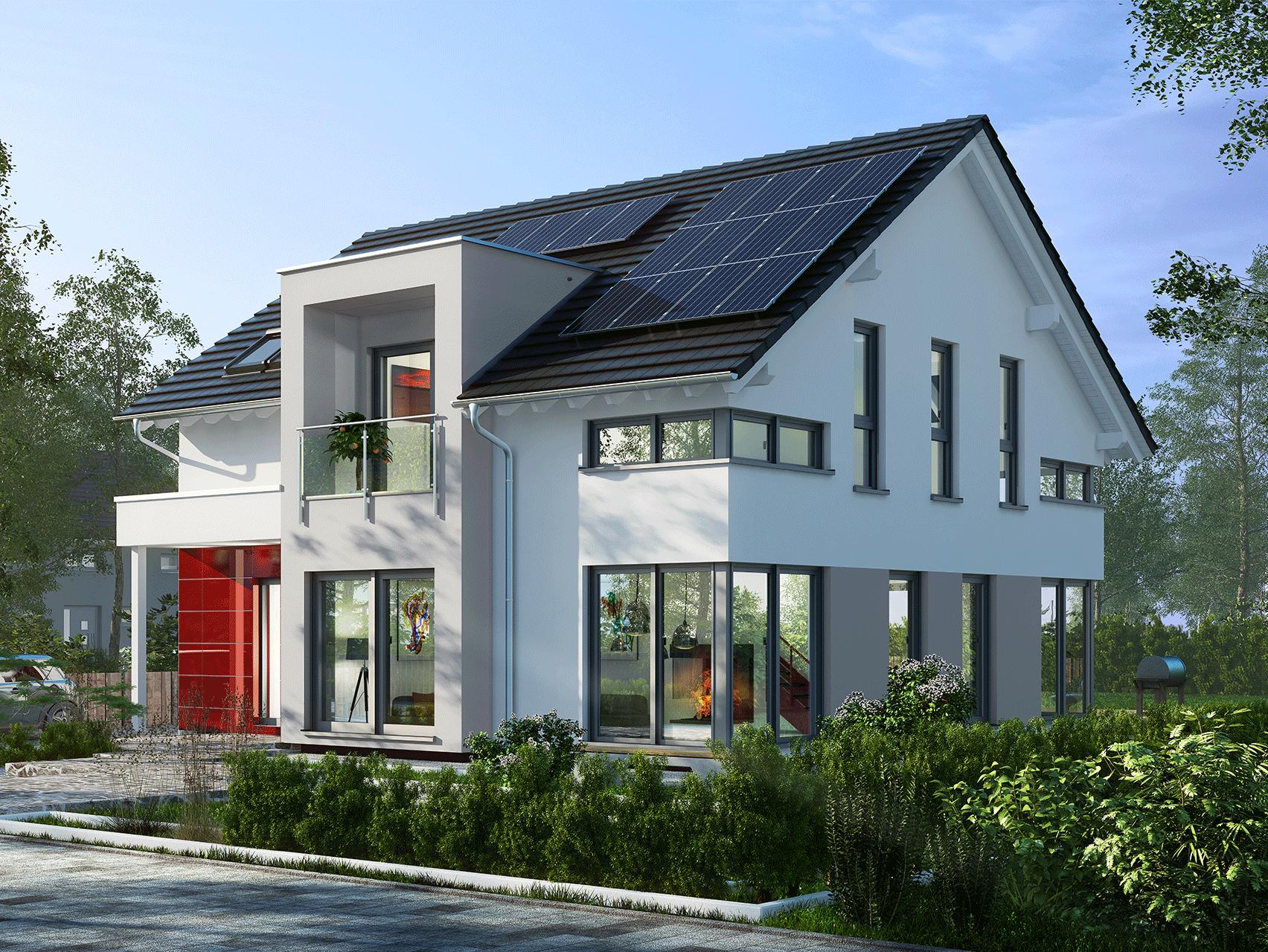 planungsvorschlag mit zwerchgiebel und balkon. Black Bedroom Furniture Sets. Home Design Ideas