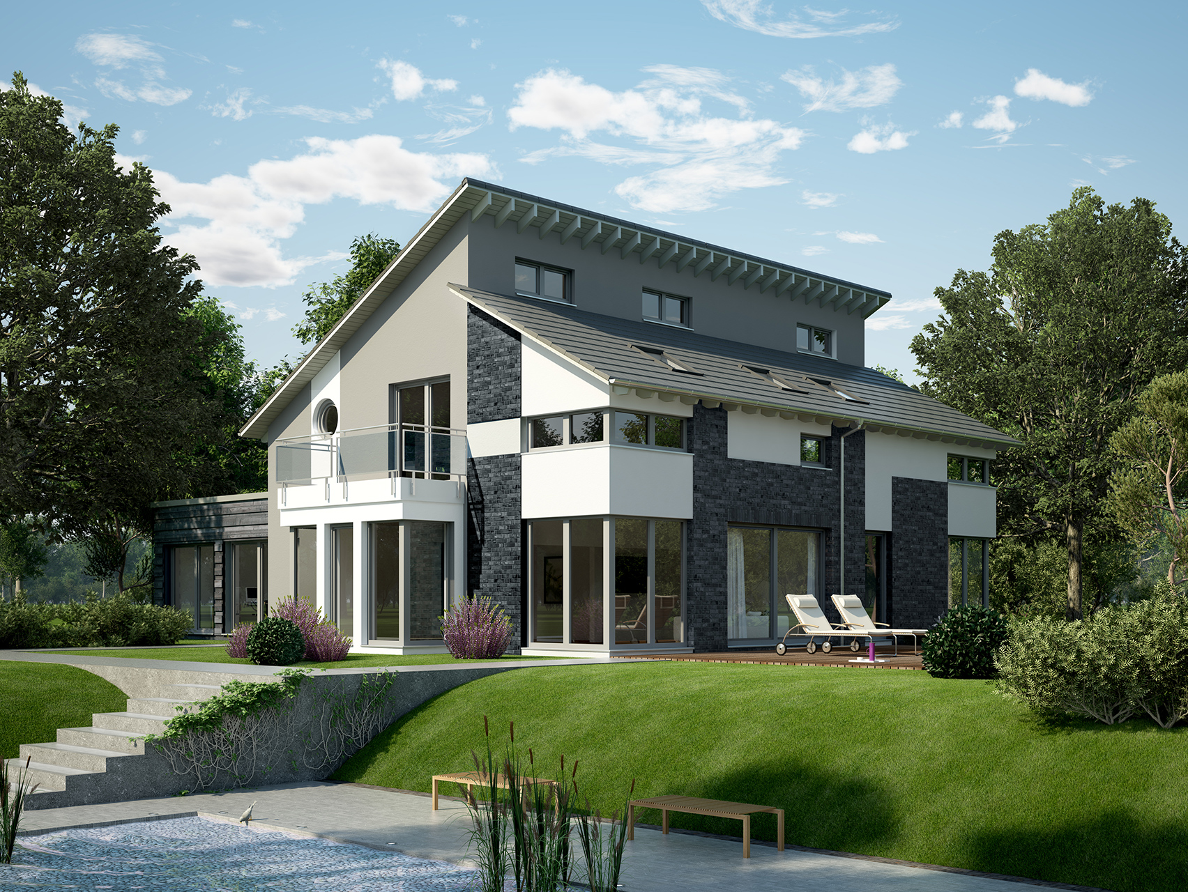 Haus mit einliegerwohnung anbau  planungsvorschlag_Doppelpultdach-und-Anbau_FN104-134BV4_43_9sp_1704x1280.jpg