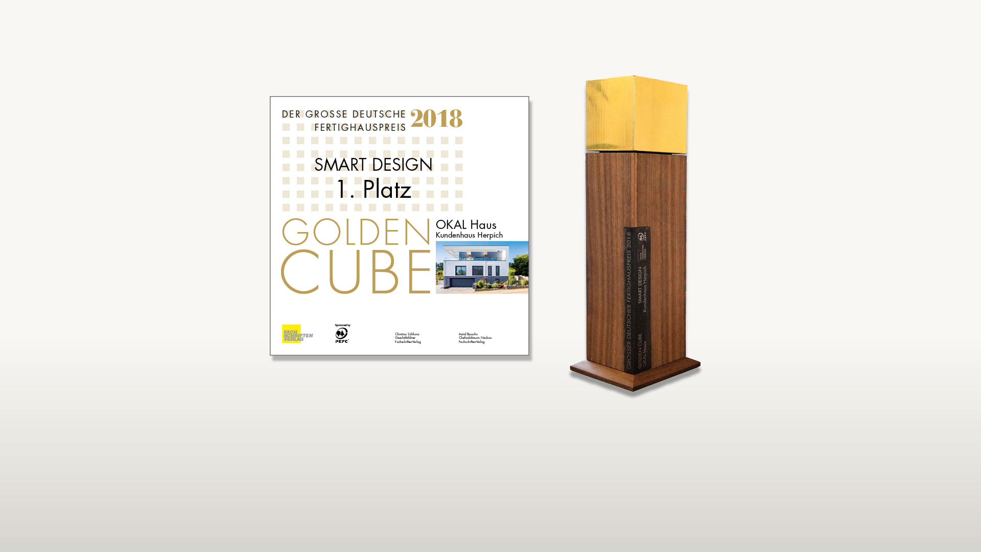 1. Platz <br> beim Golden Cube Award