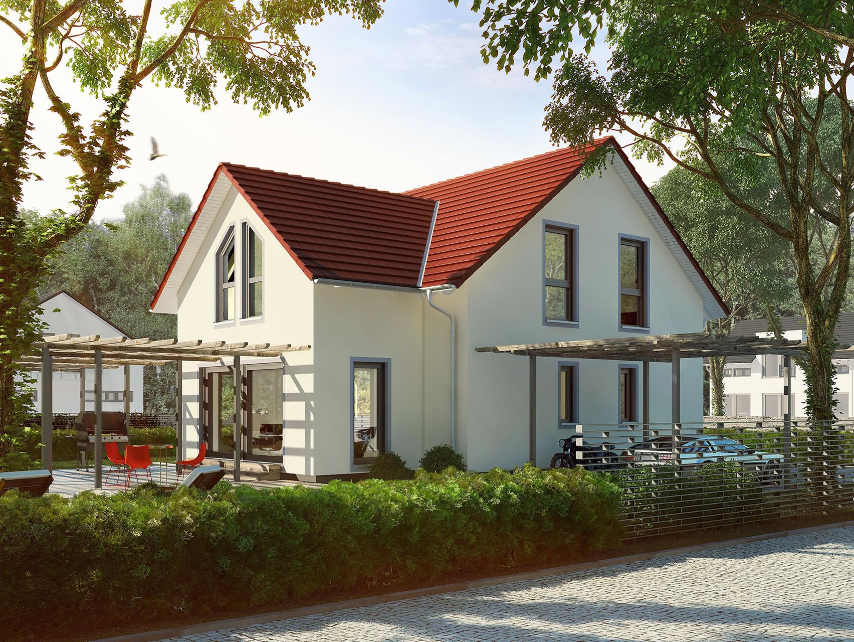 Wunderbar Einfamilienhaus Satteldach Dekoration Von