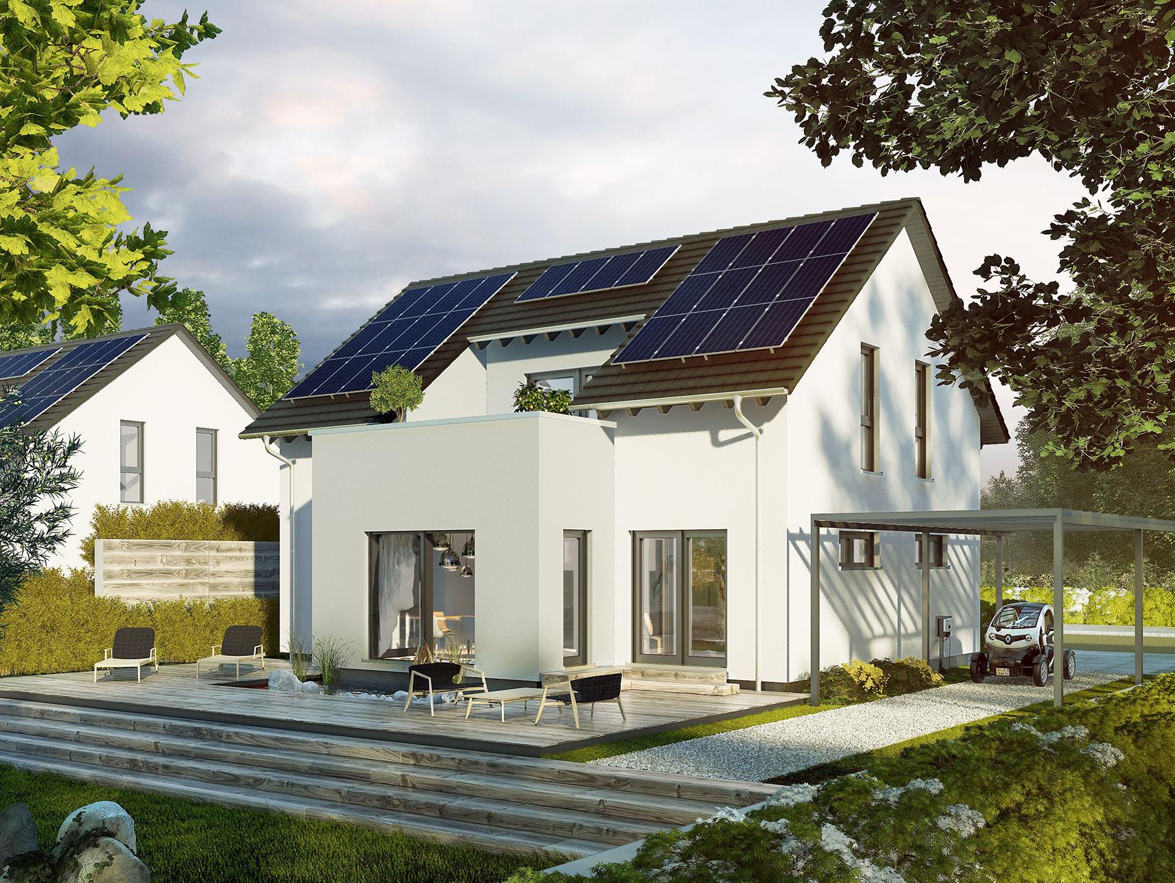 Elegant Einfamilienhaus Satteldach Sammlung Von