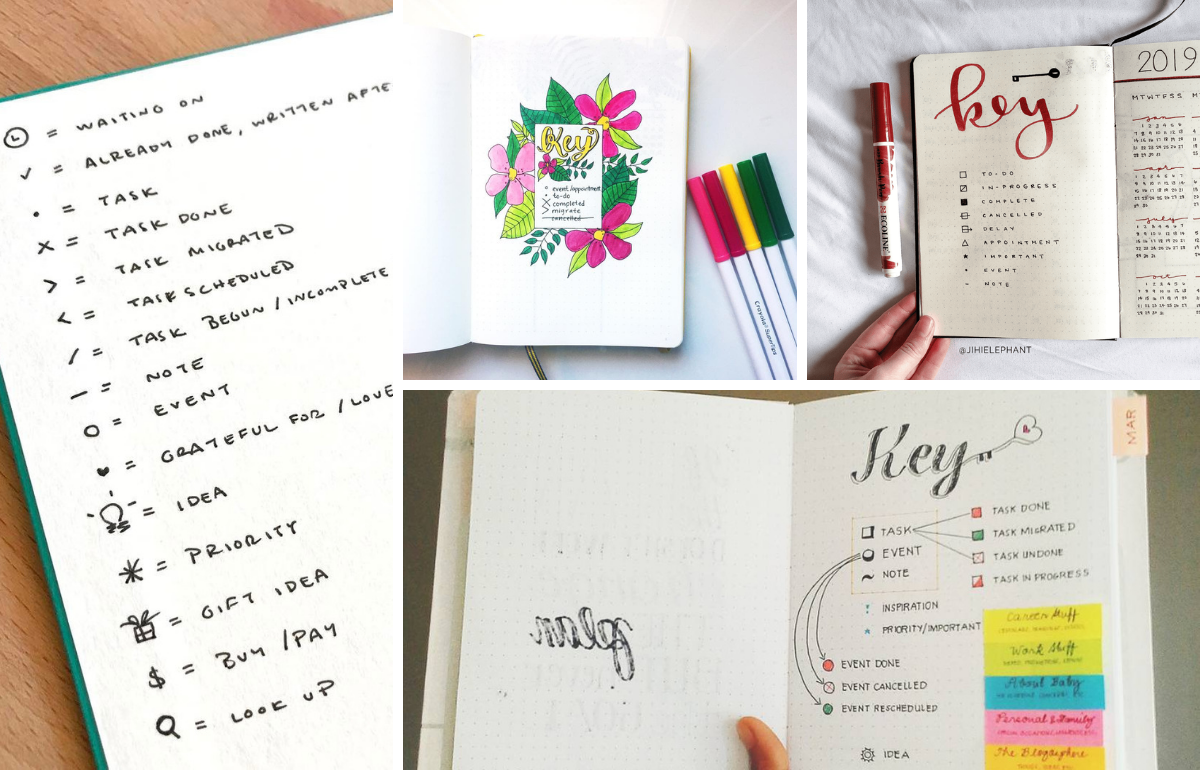 20 Perfectly Organised Bullet Journal Keys You Have to See ...