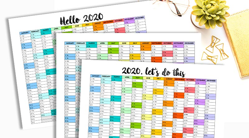 calendar-one-page-2020-lovelyplanner