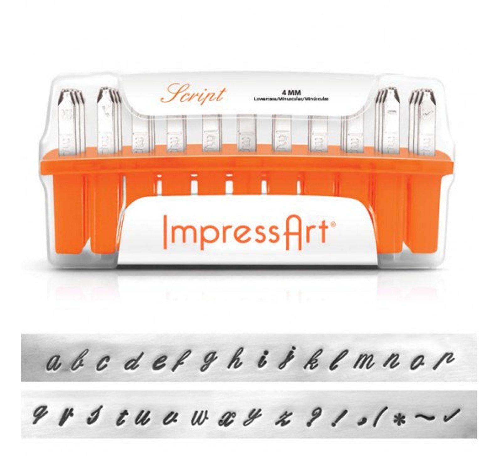 ImpressArt Metal Script Lettering Stamp Set