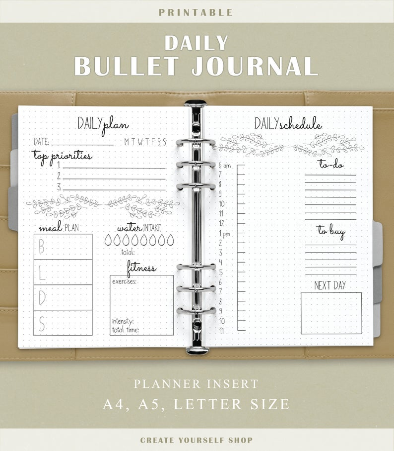 daily bullet journal-creatyourselfhsop