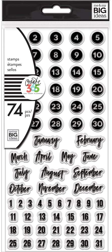 25-The Happy Planner 74 Clear Dates Stamps