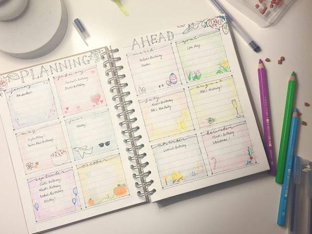 Weekly Planner in Lined Notebook