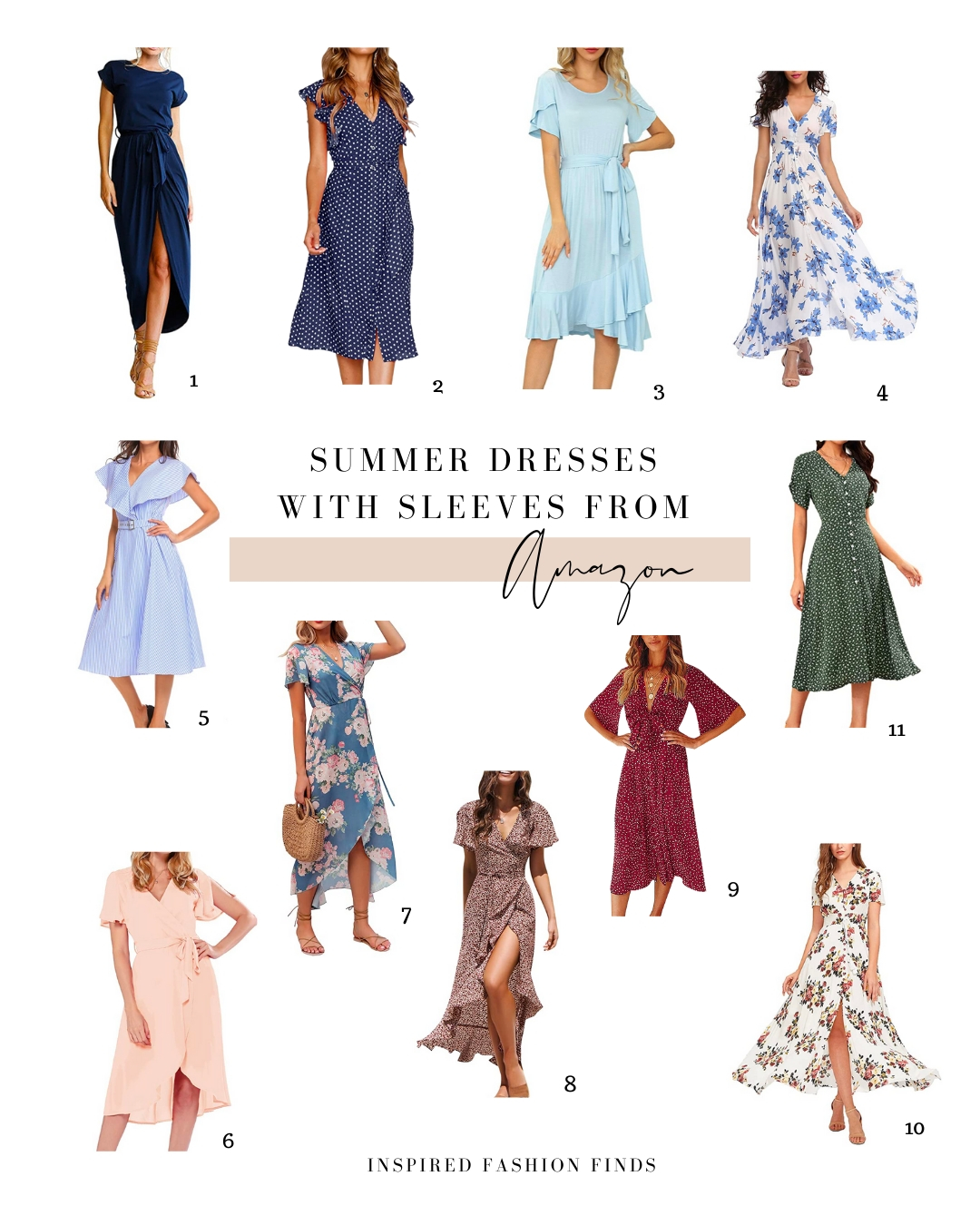 Collage-Dresses with Sleeves