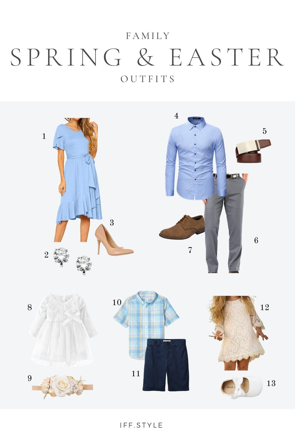 Pinterest Pin-Easter and Spring Family Outfit Ideas Blue