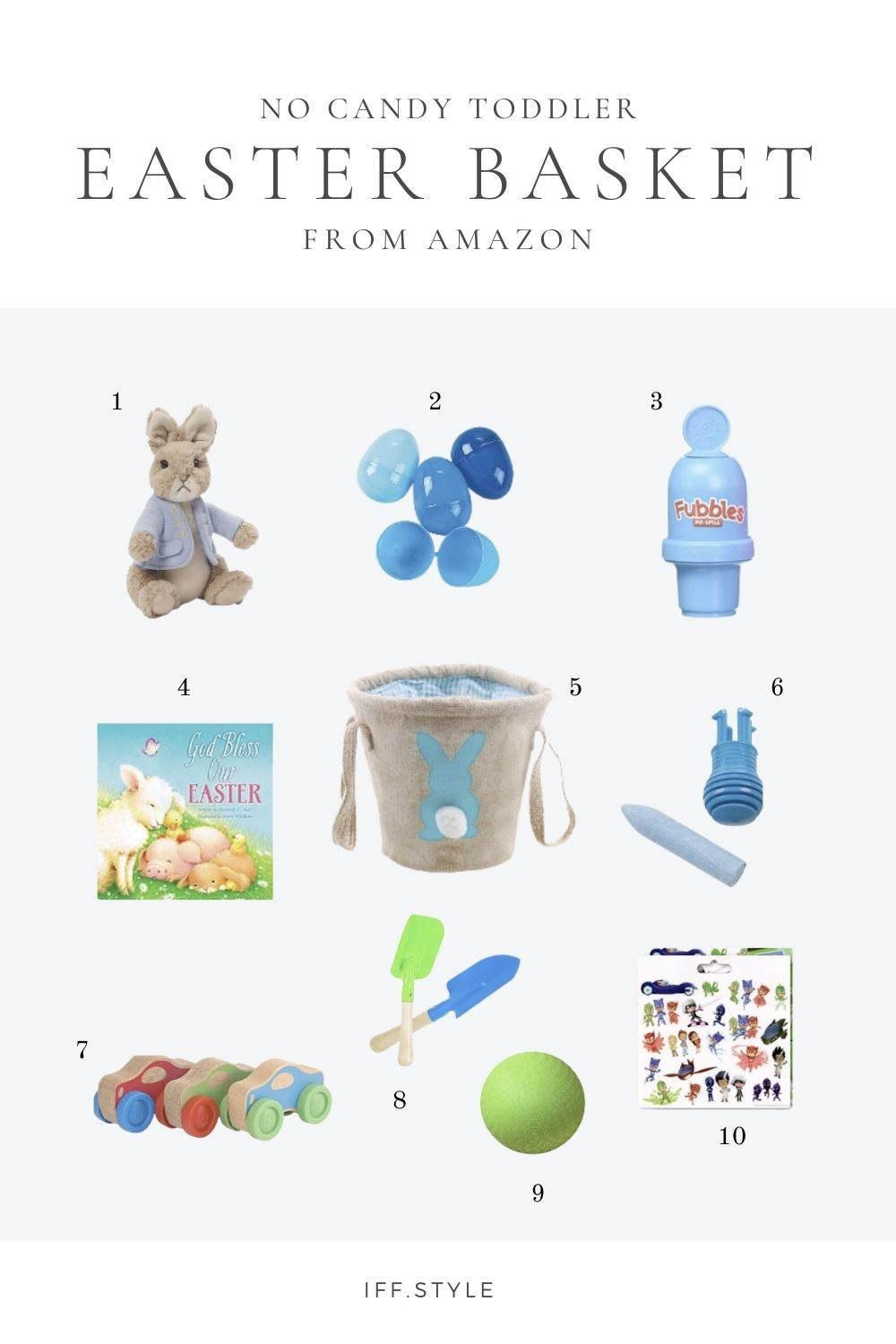 Pinterest Pin-Toddler Easter basket no candy gender neutral boys and girls