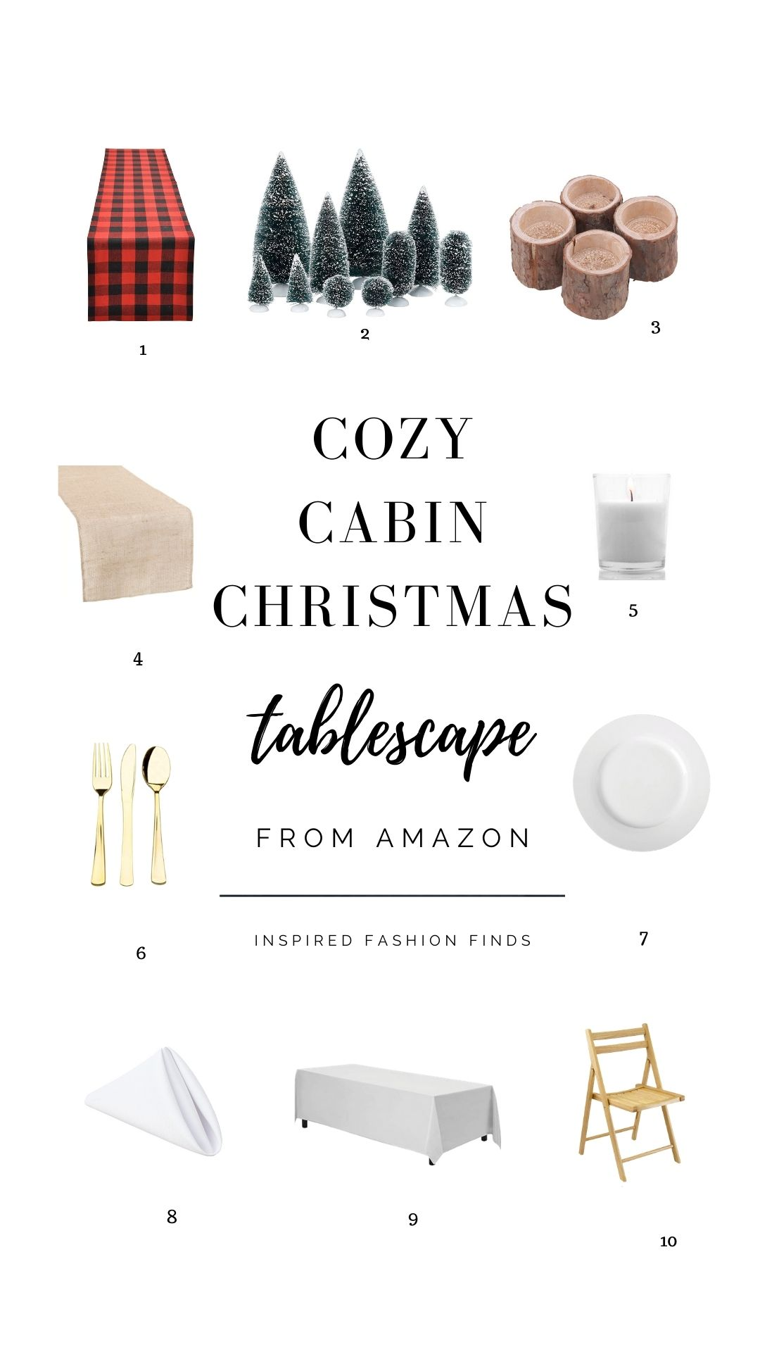 Holiday Decor-Cozy tablescape flannel cabin chrissy horton inspired fashion finds pinterest pin