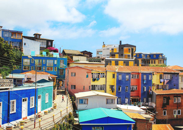 Chile colourful houses