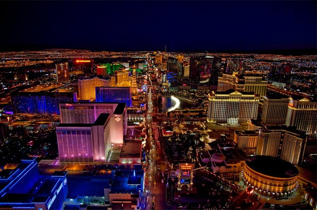 Birds eye view of Las Vegas