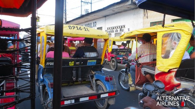 iquitos TukTuk from the airport