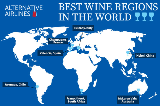 Best Wine Regions In The World Map 2