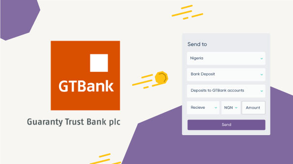 How to send a bank transfer to GTBank in Nigeria