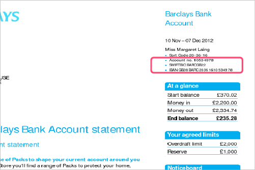 How to find swift code on your bank statement