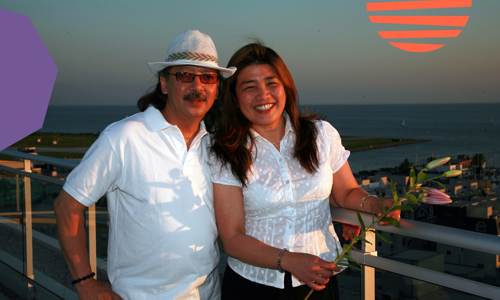 "A headshot of Teresa and Ramon Torralba a married couple of influential Filipinos""A"