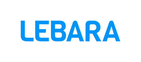 The Lebara logo - a blue circle with Lebara written within it in white text.
