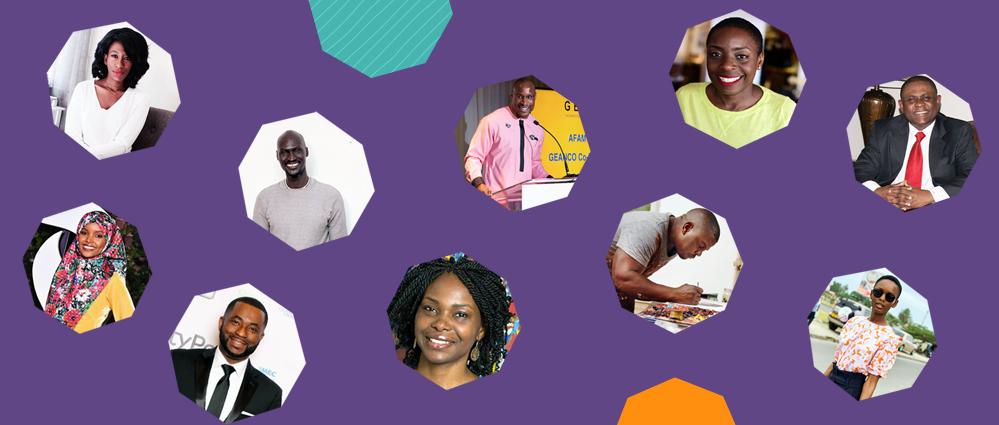 Headshots of ten influential migrant Africans in 2020