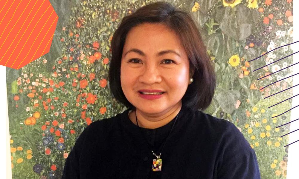 "A headshot of Imelda Deinla an influential Filipino""A"