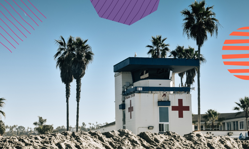 """an emergency nurse house on a beach """"A"""