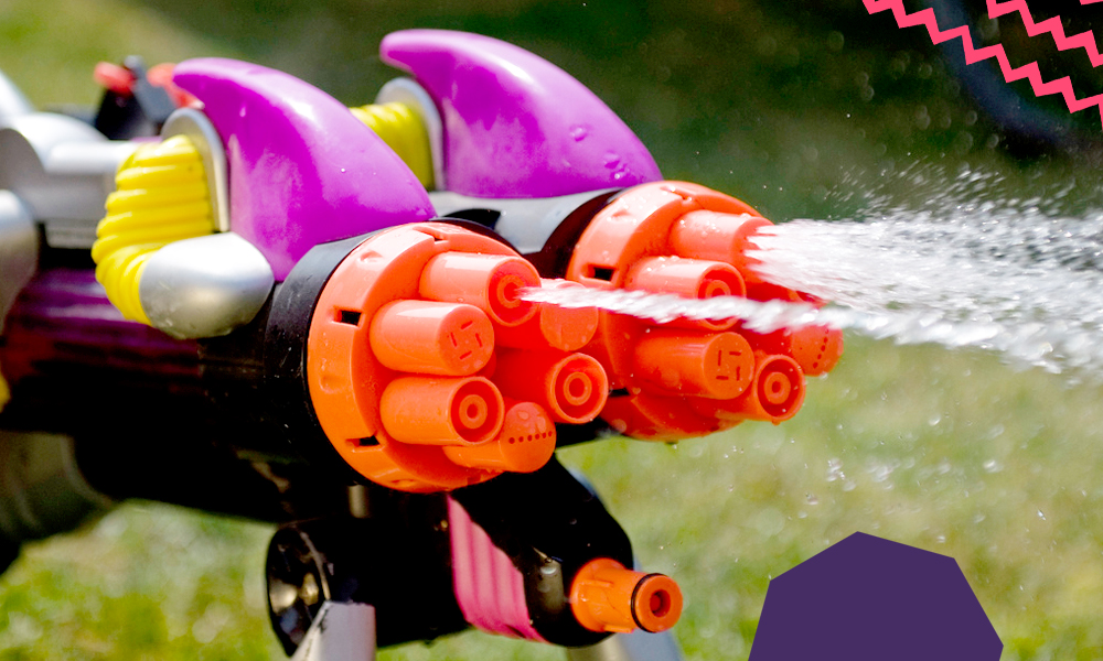 "an image of a supersoaker - invention by a black man""A"