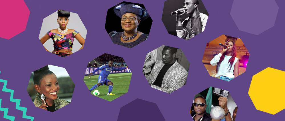 A visual representation of 8 famous Nigerians who are famous abroad