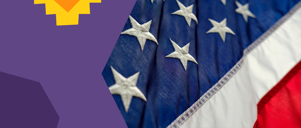 a part of us flag on a purple background