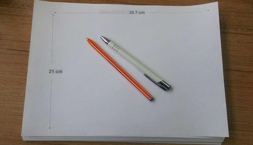 Kağıdı Boyutunun Pixel ve cm Karşılığı