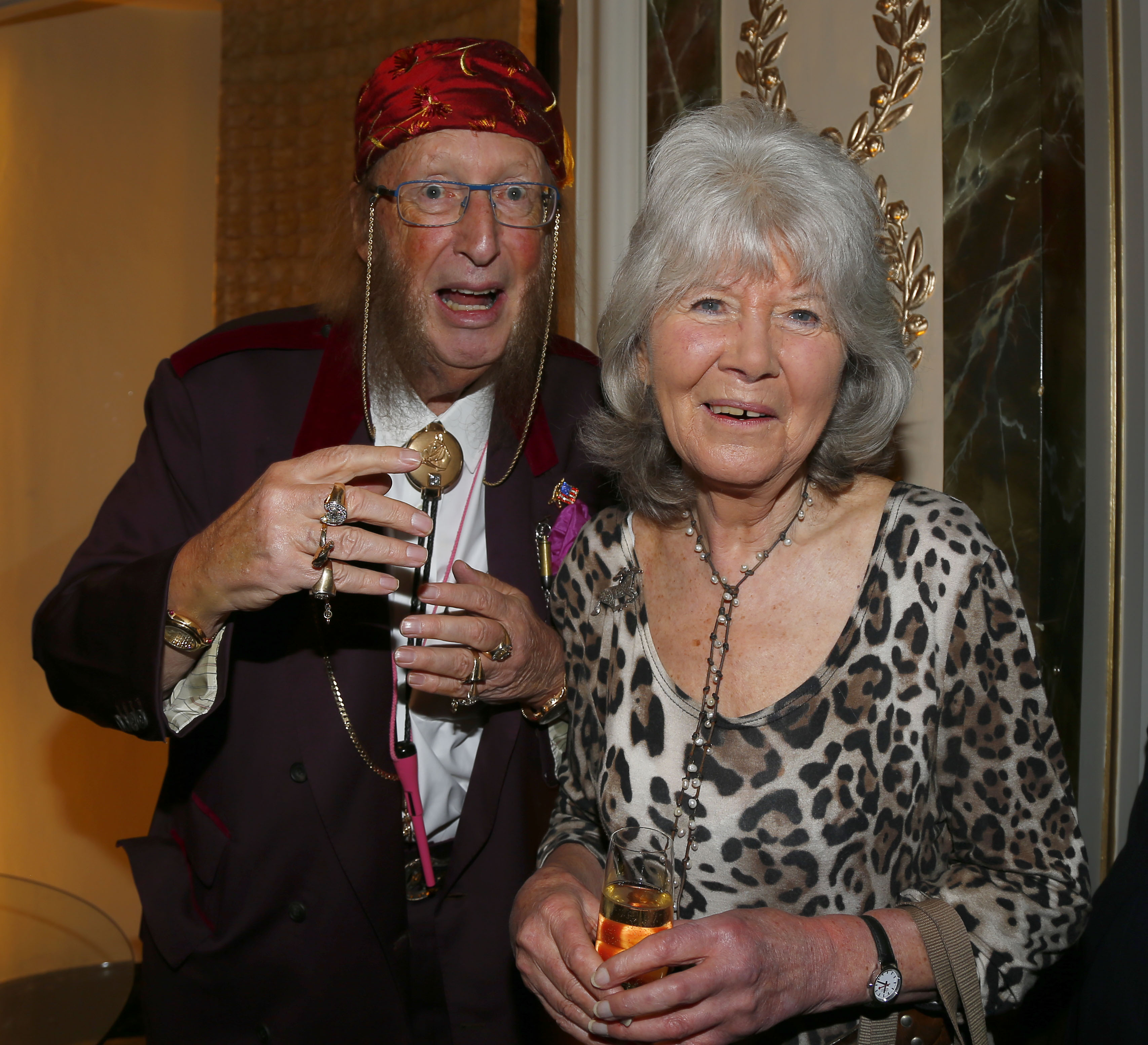 McCririck and author Jilly Cooper pictured in 2015