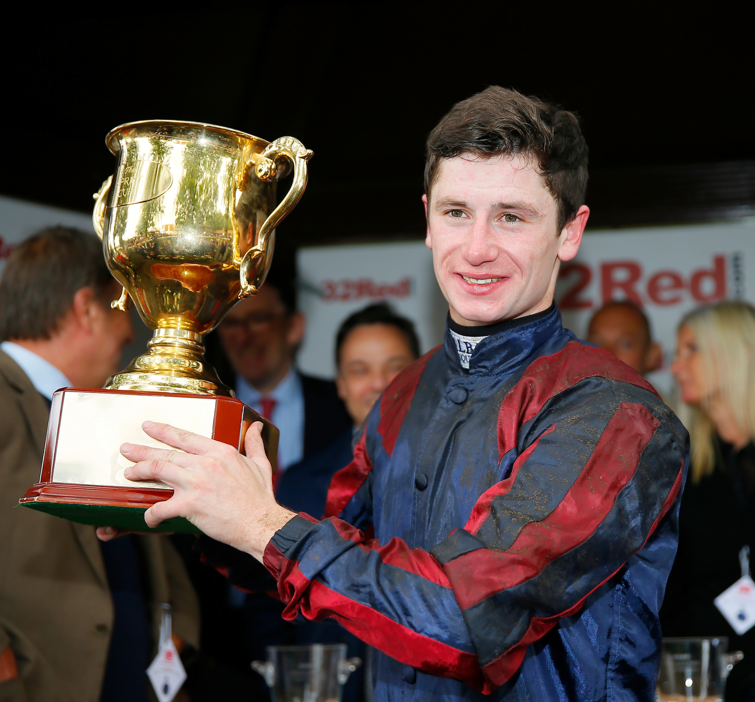 Six of the best: Oisin Murphy celebrates another Group One win (FocusOnRacing)
