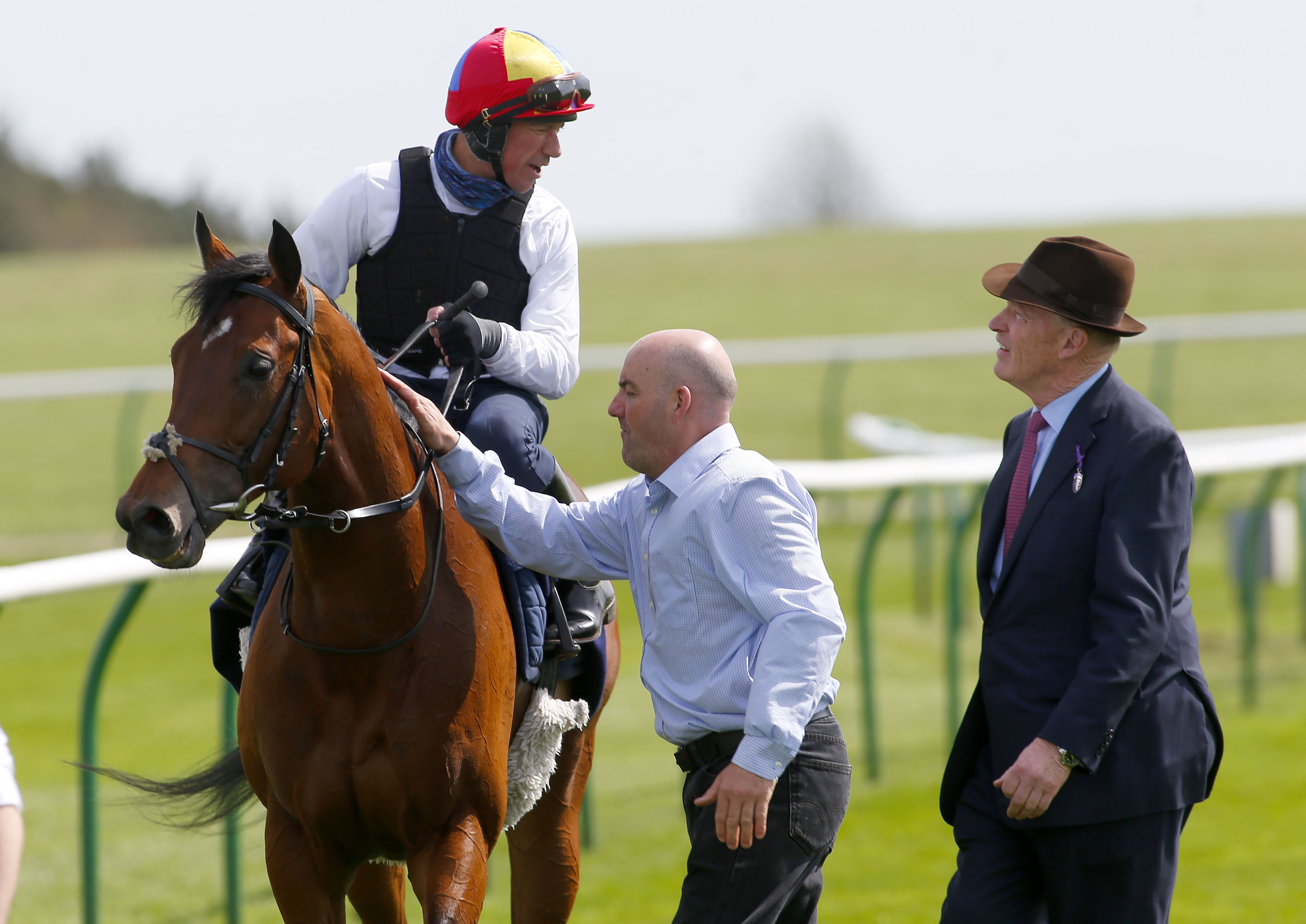 Gosden and Dettori, pictured with Cracksman, again hold the aces going into Champions Day (Focusonracing)
