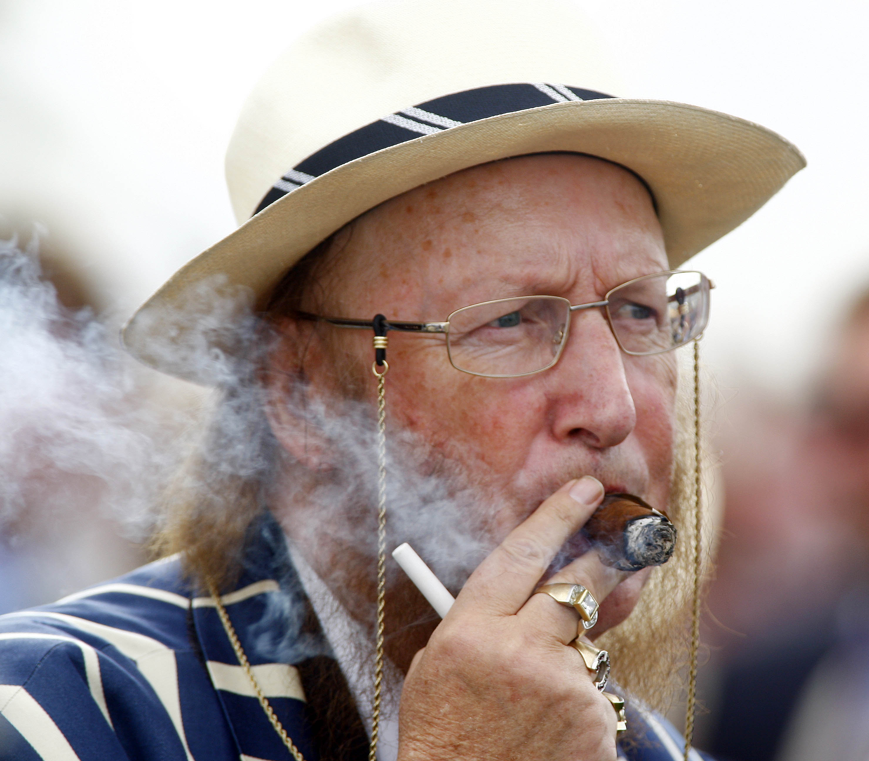 A puff of smoke in the winner's enclosure often indicated McCririck wasn't far away